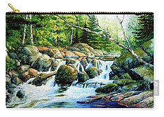 Carry-all Pouch featuring the painting Sunfish Creek by Hanne Lore Koehler
