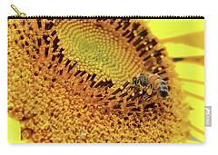 Carry-all Pouch featuring the photograph Sunflower 001 by Kevin Chippindall