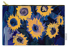 Sunflower 1 Carry-all Pouch by Rabi Khan