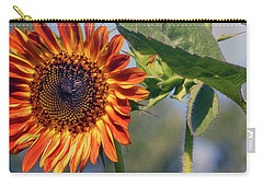 Sunflower 2016 3 Of 5 Carry-all Pouch by Tina M Wenger