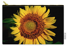 Carry-all Pouch featuring the photograph Sunflower 2017 12 by Buddy Scott