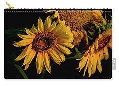 Carry-all Pouch featuring the photograph Sunflower 2017 7 by Buddy Scott