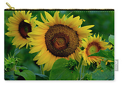 Carry-all Pouch featuring the photograph Sunflower 2017 9 by Buddy Scott