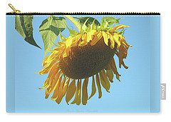 Sunflower And Blue Sky 1 Carry-all Pouch