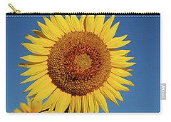 Sunflower And Blue Sky Carry-all Pouch by Nancy Landry