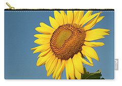 Sunflower And Blue Sky Carry-all Pouch