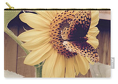 Sunflower And Butterfly Carry-all Pouch