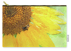 Sunflower Bee Art Carry-all Pouch