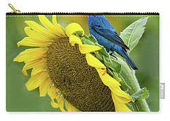 Sunflower Blue Carry-all Pouch