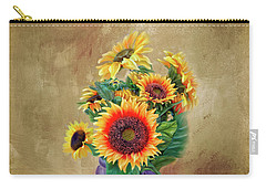 Carry-all Pouch featuring the photograph Sunflower Bouqet by Mary Timman