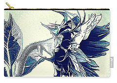 Sunflower - China Blue On White  Carry-all Pouch