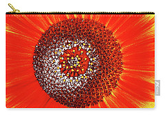 Carry-all Pouch featuring the photograph Sunflower Close by Roger Bester
