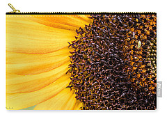 Sunflower Closeup Carry-all Pouch by Bob Orsillo