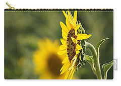 Carry-all Pouch featuring the photograph Sunflower Delight by Kathy Churchman