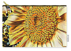 Sunflower In The Alley Carry-all Pouch