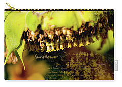 Carry-all Pouch featuring the photograph Sunflower Expression by Anna Louise