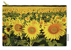 Carry-all Pouch featuring the photograph Sunflower Faces by Ann Bridges