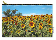 Sunflower Field One Carry-all Pouch