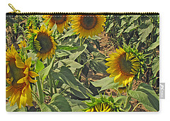 Sunflower Field Two Carry-all Pouch
