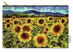 Sunflower Field Van Gogh Carry-all Pouch