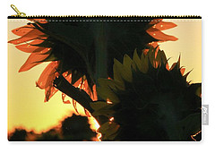Carry-all Pouch featuring the photograph Sunflower Greeting  by Chris Berry