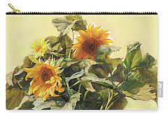 Sunflower In Love - Good Morning America Carry-all Pouch