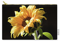Sunflower Isloated On Black Carry-all Pouch