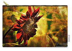 Sunflower Carry-all Pouch by Lois Bryan