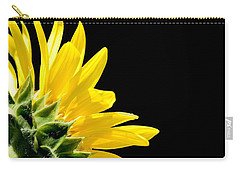 Sunflower On Black Carry-all Pouch