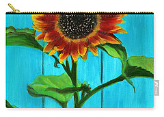 Sunflower On Blue Carry-all Pouch