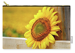 Sunflower On The Fence Carry-all Pouch