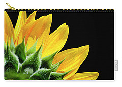 Carry-all Pouch featuring the photograph Sunflower Petals by Christina Rollo