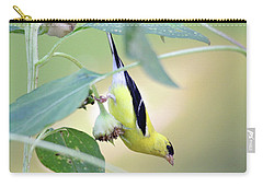 Carry-all Pouch featuring the photograph Sunflower Seed Snack by Trina Ansel