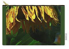 Sunflower Shower - Images From The Garden - Floral Photography - Macro Carry-all Pouch