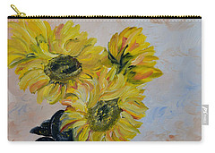 Sunflower Still Life Carry-all Pouch