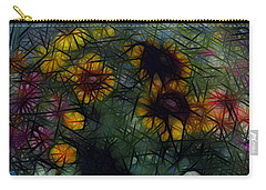 Sunflower Streaks Carry-all Pouch