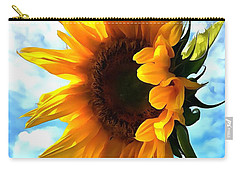 Sunflower - Sun Shine On Carry-all Pouch by Janine Riley