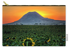 Sunflower Sunrise Carry-all Pouch by Fiskr Larsen