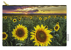 Sunflower Sunset Carry-all Pouch by Kristal Kraft