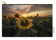 Carry-all Pouch featuring the photograph Sunflower Sunstar  by Aaron J Groen
