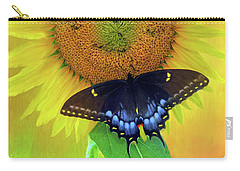 Carry-all Pouch featuring the photograph Sunflower With Company by Marion Johnson