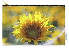 Sunflower With Lens Flare Carry-all Pouch