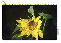 Carry-all Pouch featuring the photograph Sunflower With Texture by Trina Ansel