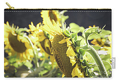 Carry-all Pouch featuring the photograph Sunflowers 4 by Andrea Anderegg