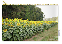 Carry-all Pouch featuring the photograph  Sunflowers 6 by Andrea Anderegg
