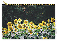 Carry-all Pouch featuring the photograph Sunflowers 7 by Andrea Anderegg