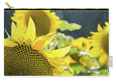 Carry-all Pouch featuring the photograph  Sunflowers 8 by Andrea Anderegg