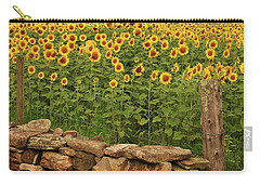 Sunflowers And Fence   Carry-all Pouch