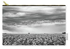Sunflowers And Rain Showers Carry-all Pouch by Penny Meyers