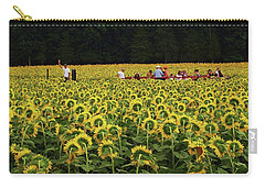 Carry-all Pouch featuring the photograph Sunflowers Everywhere by John Scates